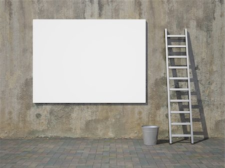 enki (artist) - Blank advertising billboard on dirty grunge wall Stock Photo - Budget Royalty-Free & Subscription, Code: 400-05373711