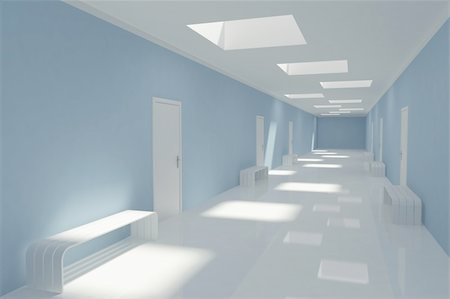 enki (artist) - Modern long corridor in hospital Stock Photo - Budget Royalty-Free & Subscription, Code: 400-05373720