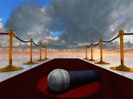 rolffimages (artist) - Red Carpet and Microphone Stock Photo - Budget Royalty-Free & Subscription, Code: 400-05373781