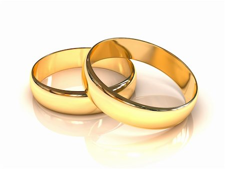 enki (artist) - Golden wedding rings  isolated on white background Stock Photo - Budget Royalty-Free & Subscription, Code: 400-05373872