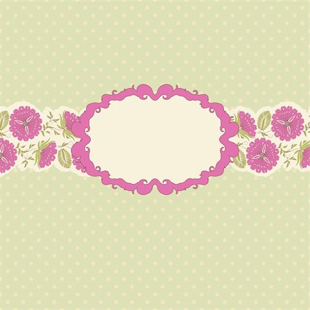 simsearch:400-04872199,k - Template frame design for greeting card . Floral design. In vintage style. Stock Photo - Budget Royalty-Free & Subscription, Code: 400-05384979