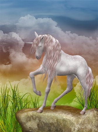 3d render of a beautiful unicorn Stock Photo - Budget Royalty-Free & Subscription, Code: 400-05384995