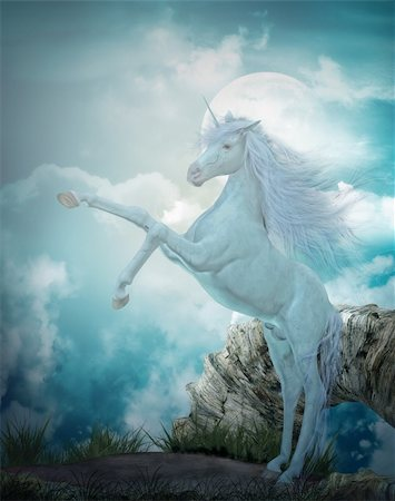 3d render of a beautiful unicorn Stock Photo - Budget Royalty-Free & Subscription, Code: 400-05384996