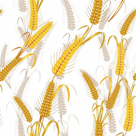 Seamless pattern with wheat ears Stock Photo - Budget Royalty-Free & Subscription, Code: 400-05386612