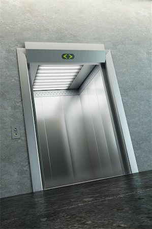 modern elevator with open doors Stock Photo - Budget Royalty-Free & Subscription, Code: 400-05387361