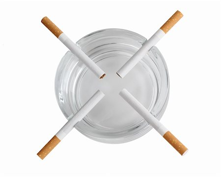 Color photo of a glass ashtray and cigarette Stock Photo - Budget Royalty-Free & Subscription, Code: 400-05380770