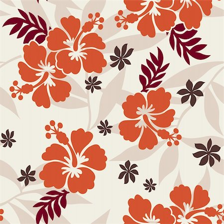 Hibiscus Pattern Stock Photo - Budget Royalty-Free & Subscription, Code: 400-05380958