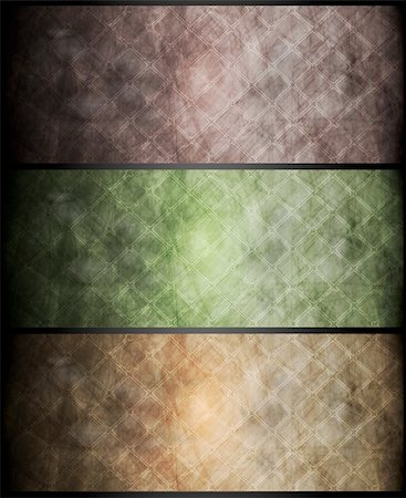 Set of vector grunge banners. Eps 10 Stock Photo - Budget Royalty-Free & Subscription, Code: 400-05381031