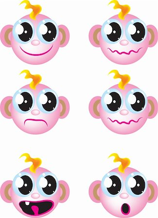 Baby faces Stock Photo - Budget Royalty-Free & Subscription, Code: 400-05664375