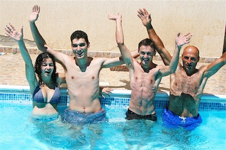 People having fun in  swimming pool. Stock Photo - Budget Royalty-Free & Subscription, Code: 400-05665210