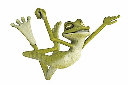 3d render of a toon frog Stock Photo - Budget Royalty-Free & Subscription, Code: 400-05667452