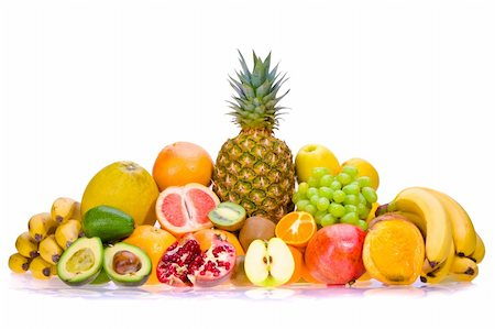 Assortment of fresh fruits Stock Photo - Budget Royalty-Free & Subscription, Code: 400-05668905