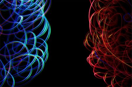 Chaotic colorful lights on  black background Stock Photo - Budget Royalty-Free & Subscription, Code: 400-05674042