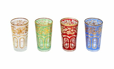 Moroccan glasses set isolated with clipping path included Stock Photo - Budget Royalty-Free & Subscription, Code: 400-05674147
