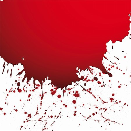 Red drop ink splatter, blood splash vector. Gloss brush paint spot, grunge blot, art blob, oil, abstract droplet. Splat, liquid illustration. Space for text. Stock Photo - Budget Royalty-Free & Subscription, Code: 400-05675403