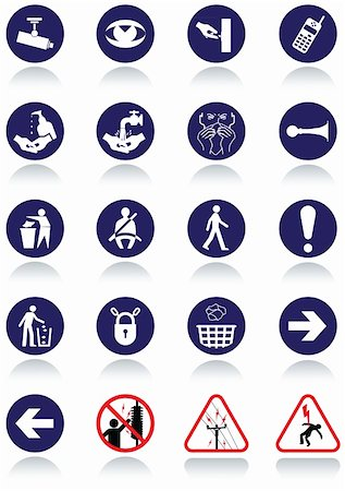 Illustration set of international communication signs. All vector objects and details are isolated and grouped. Colors, reflection and transparent background color are easy to remove or customize. Stock Photo - Budget Royalty-Free & Subscription, Code: 400-05676062
