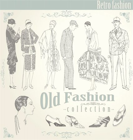 retro fashion set Stock Photo - Budget Royalty-Free & Subscription, Code: 400-05677021