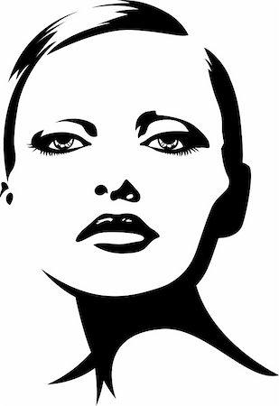 female lips drawing - glamour fashion woman illustration Stock Photo - Budget Royalty-Free & Subscription, Code: 400-05677148