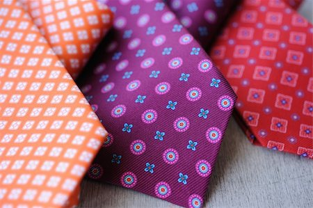Image of 3 ties on white wood background Stock Photo - Budget Royalty-Free & Subscription, Code: 400-05678502