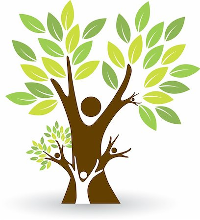 Illustration art of a family tree with isolated background Stock Photo - Budget Royalty-Free & Subscription, Code: 400-05678574