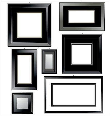 Empty black Frames Stock Photo - Budget Royalty-Free & Subscription, Code: 400-05679031