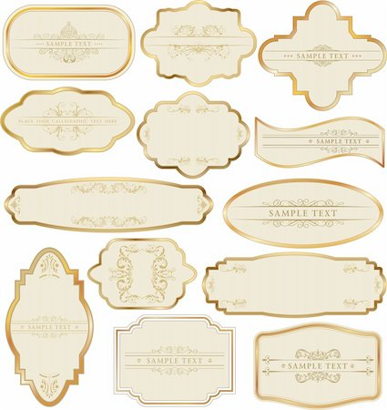 Set of golden labels Stock Photo - Budget Royalty-Free & Subscription, Code: 400-05679032