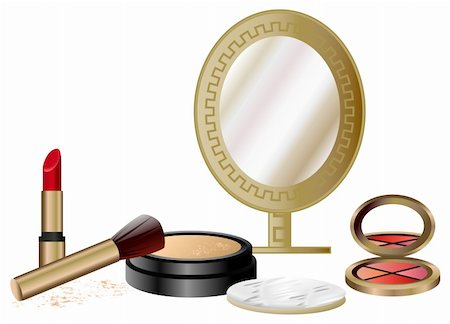 Cosmetics Set isolated on white background Stock Photo - Budget Royalty-Free & Subscription, Code: 400-05679582