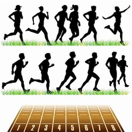 Running people set Stock Photo - Budget Royalty-Free & Subscription, Code: 400-05679941