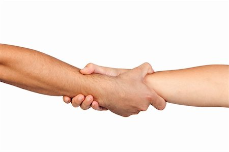 Handshake of friendship isolated on white background Stock Photo - Budget Royalty-Free & Subscription, Code: 400-05670209