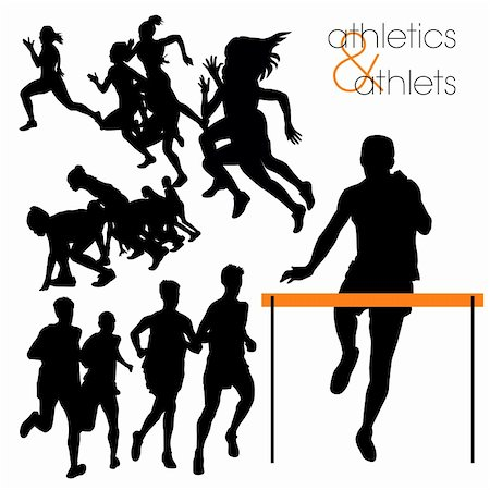 Athletes silhouettes set Stock Photo - Budget Royalty-Free & Subscription, Code: 400-05670899
