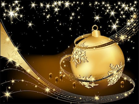 Merry Christmas  background gold and black Stock Photo - Budget Royalty-Free & Subscription, Code: 400-05670993