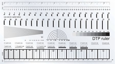 Desktop publishing measure ruler Stock Photo - Budget Royalty-Free & Subscription, Code: 400-05671379