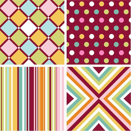seamless patterns with fabric texture Stock Photo - Budget Royalty-Free & Subscription, Code: 400-05671400