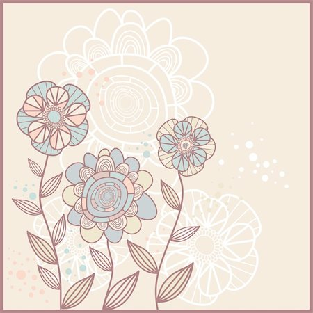 cute card with flowers Stock Photo - Budget Royalty-Free & Subscription, Code: 400-05671602