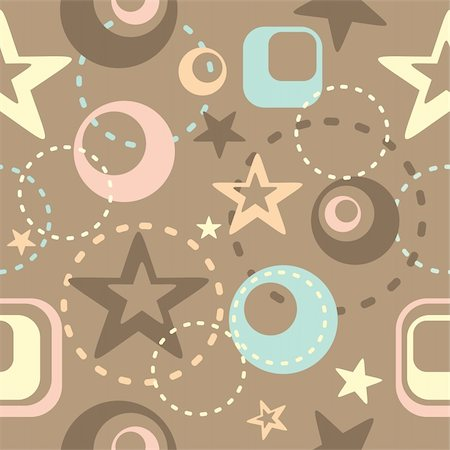 vector abstract background with circles and stars Stock Photo - Budget Royalty-Free & Subscription, Code: 400-05671630