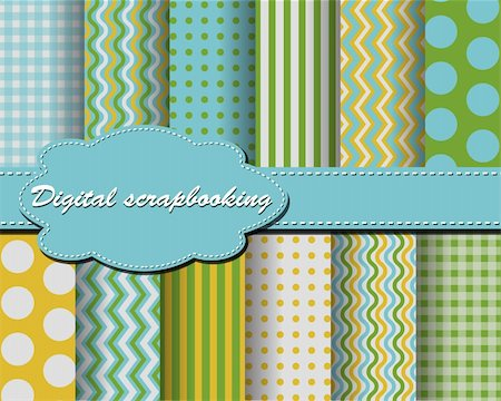 scope - set of vector paper for scrapbook Stock Photo - Budget Royalty-Free & Subscription, Code: 400-05671885