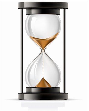 sand clock - Sand flowing through an hourglass front view Stock Photo - Budget Royalty-Free & Subscription, Code: 400-05672494