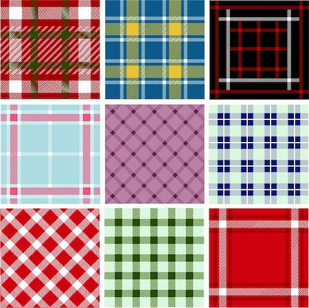 Set of plaid patterns Stock Photo - Budget Royalty-Free & Subscription, Code: 400-05672516