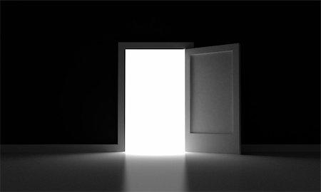 Open Door Dark Room perfect open door dark room royalty free stock image for design