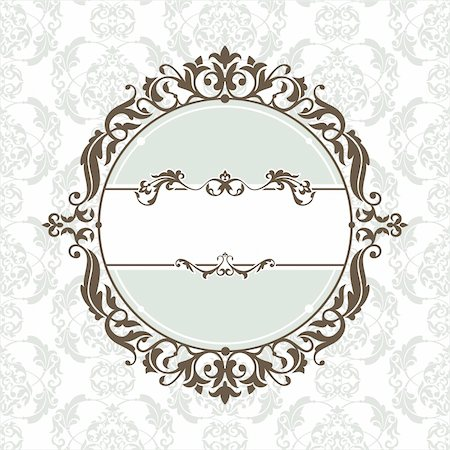 abstract cute decorative vintage frame vector illustration Stock Photo - Budget Royalty-Free & Subscription, Code: 400-05673557