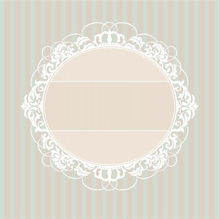 elegant wedding floral graphic - abstract cute decorative vintage frame vector illustration Stock Photo - Budget Royalty-Free & Subscription, Code: 400-05673560