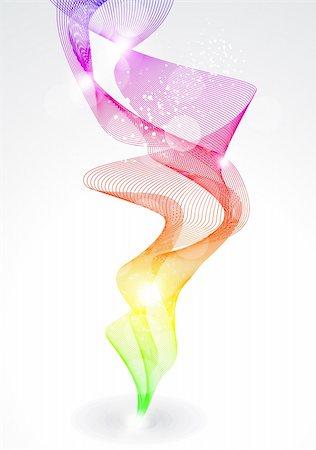 rainbow smoke background - abstract rainow smike backgorund vector illustration Stock Photo - Budget Royalty-Free & Subscription, Code: 400-05684712