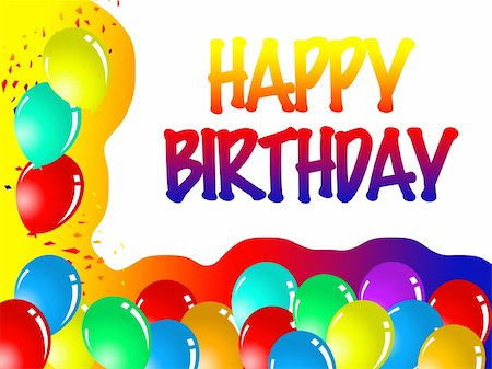 happy birthday Stock Photo - Budget Royalty-Free & Subscription, Code: 400-05684832