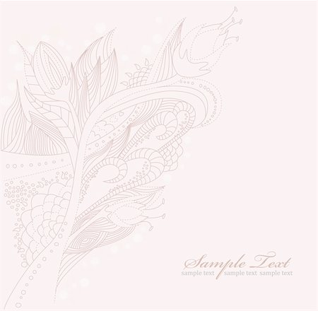 Floral doodle background Stock Photo - Budget Royalty-Free & Subscription, Code: 400-05685213