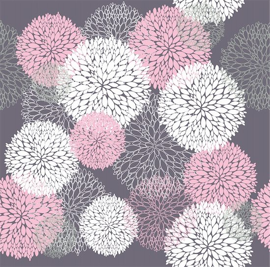 Vector flower pattern. Seamless cute spring or summer floral pattern. Background with flowers. Stock Photo - Royalty-Free, Artist: lapesnape, Image code: 400-05685257