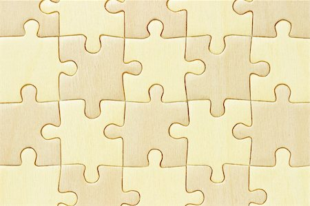 Close up image of checkered wooden jigsaw puzzle background Stock Photo - Budget Royalty-Free & Subscription, Code: 400-05686260