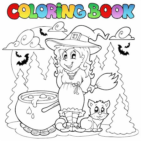 Coloring book Halloween character 1 - vector illustration. Stock Photo - Budget Royalty-Free & Subscription, Code: 400-05686858