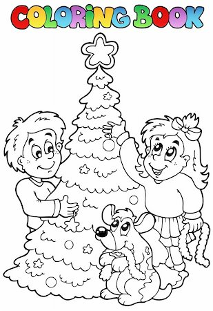 Coloring book Christmas topic 3 - vector illustration. Stock Photo - Budget Royalty-Free & Subscription, Code: 400-05686852