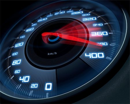 Speedometer scoring high speed in a fast motion blur. Stock Photo - Budget Royalty-Free & Subscription, Code: 400-05688955