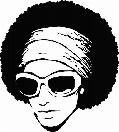 retro beauty salon images - pop art face with afro Stock Photo - Budget Royalty-Free & Subscription, Code: 400-05680198